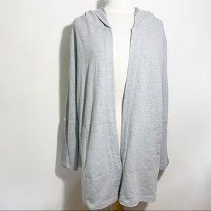 DENIM & CO Active longer hooded fleece jacket L